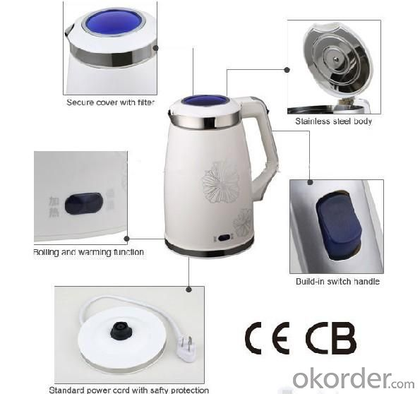 Easy Control Customized Stainless Steel Electric Kettle