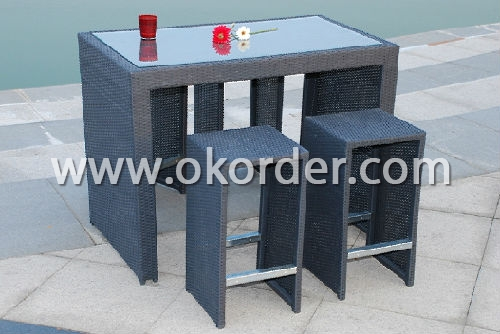 Aluminium Rattan Bar Set (BA029)