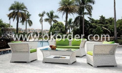 Aluminium Rattan Sofa Set SS029