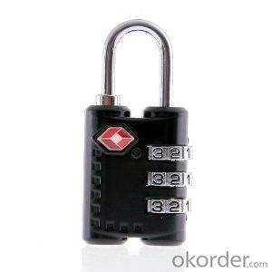 Zinc Alloy TSA Combination Cable Lock