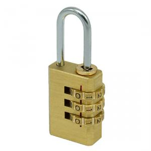3 Number Combination Brass Lock Coded PadLock