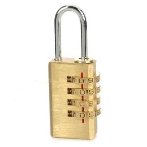 4 Digit Combination Brass Lock Outdoor Lock