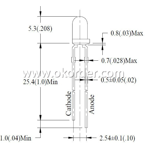 Amber LED Component Products 3mm