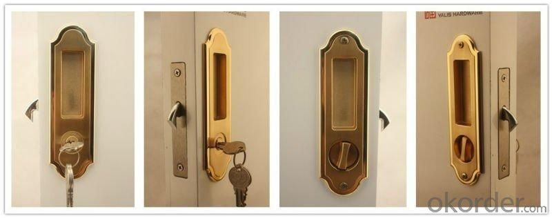 Concise Design Sliding Wooden Door Lock