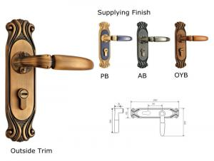 High Quality European Style Vertical Handle Door Lock