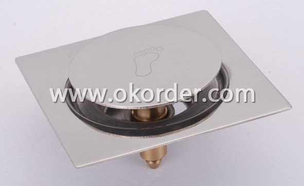 stainless steel pop-up floor drain