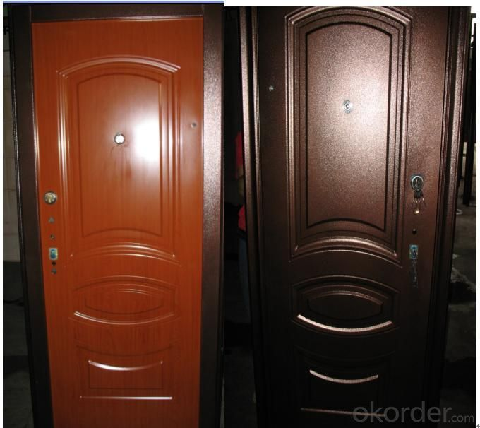 Steel Security Doors with Quality Lock System and UV Painting