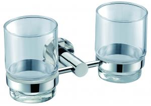 Decorative Solid Brass Hardware House Bathroom Accessories Double Tumbler Holder