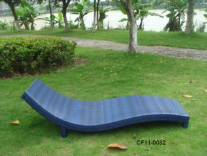 Modern Leisure Rattan Outdoor Garden Furniture Lounge Bed