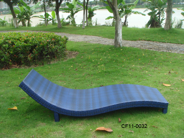 Modern Leisure Rattan Outdoor Garden Furniture Lounge Bed