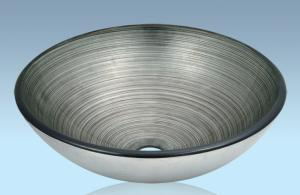 Unique Design Hot Selling Bathroom Product Tempered glass Gray Washbasin