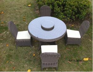 Classical Modern Leisure Rattan Outdoor Garden Furniture One Table Four Without armrests Chair