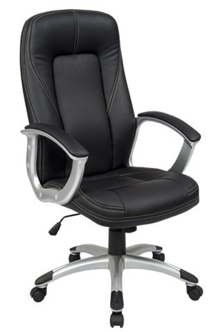Confortable executive PU Office Chair/350mm Nylon Base/Nylon Powder Coated with PU Armrests/Butterfly tilt/Office Furniture