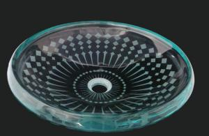 Unique Design Hot Selling Bathroom Product Tempered glass Translucent Washbasin