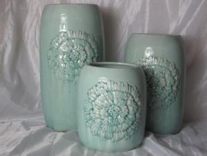 Hot Selling Fashion Home Décor Ceramic Light Color Flower Jar M
