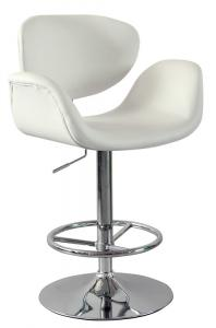 Hot Selling High Quality Comfortable White Graceful Lines Bar Stool