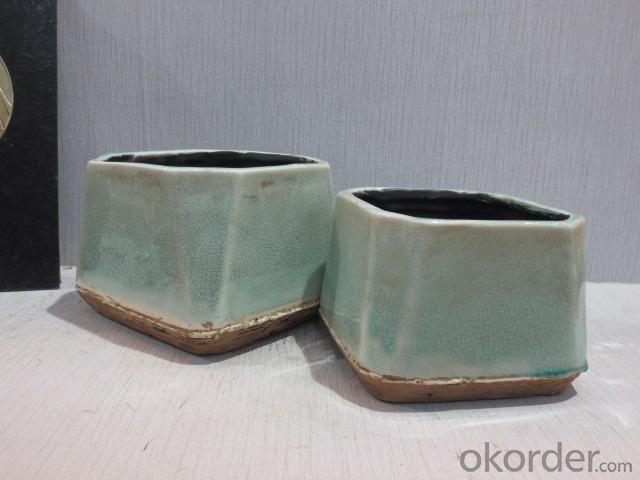 Hot Selling New Design Home Decorative Ceramic Antique Light Color Flower Vase L