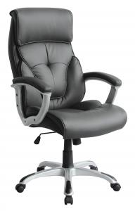 New Design Hot Selling Full Grey Half PU High Quality Office Chair