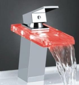 Unique Design Temperature Control Colour Changing Led Bath Faucets Brass Basin Mixer