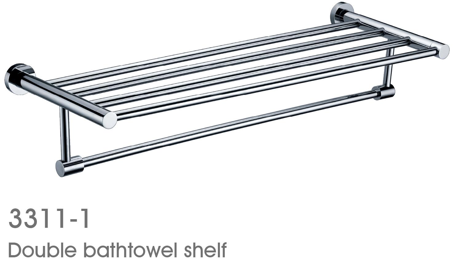 Exquisite Brass 25 Inch Bathroom Shelf With Towel Bar Bathroom Accessories