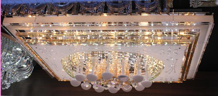 LED Crystal Ceiling Light Pendant Lights Classic Golden Ceiling Pendant Light 1100*800 Long LED SMD High Brightness Type 2