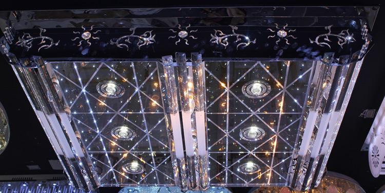 Crystal Ceiling Light Pendant Lights Classic Golden Ceiling Pendant Light Square 1100*800 High Brightness