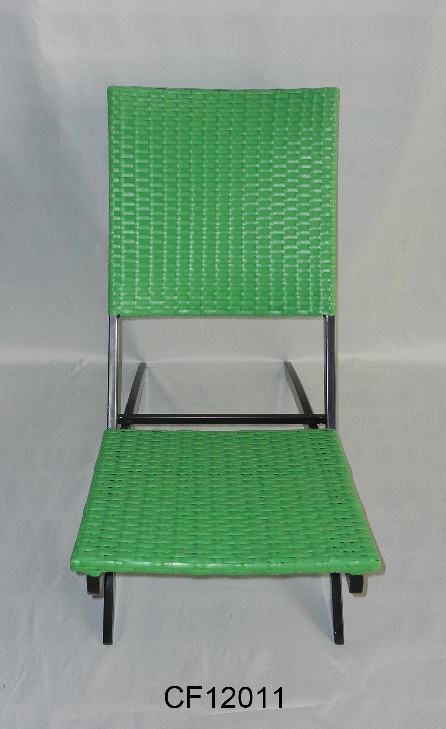 Classical Outdoor Furniture Iron and PE Rattan  Cross Chair