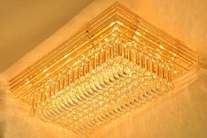 Crystal Ceiling Light Pendant Lights Classic Golden Ceiling Pendant Light 1100*710