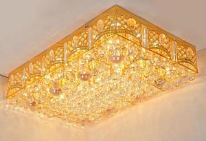 Crystal Ceiling Light Pendant Lights Classic Golden Ceiling Pendant Light 164PCS Light Ball 1000*640