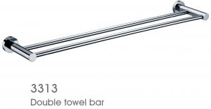 New Item Solid Brass Bathroom Accessories Double Towel Bar