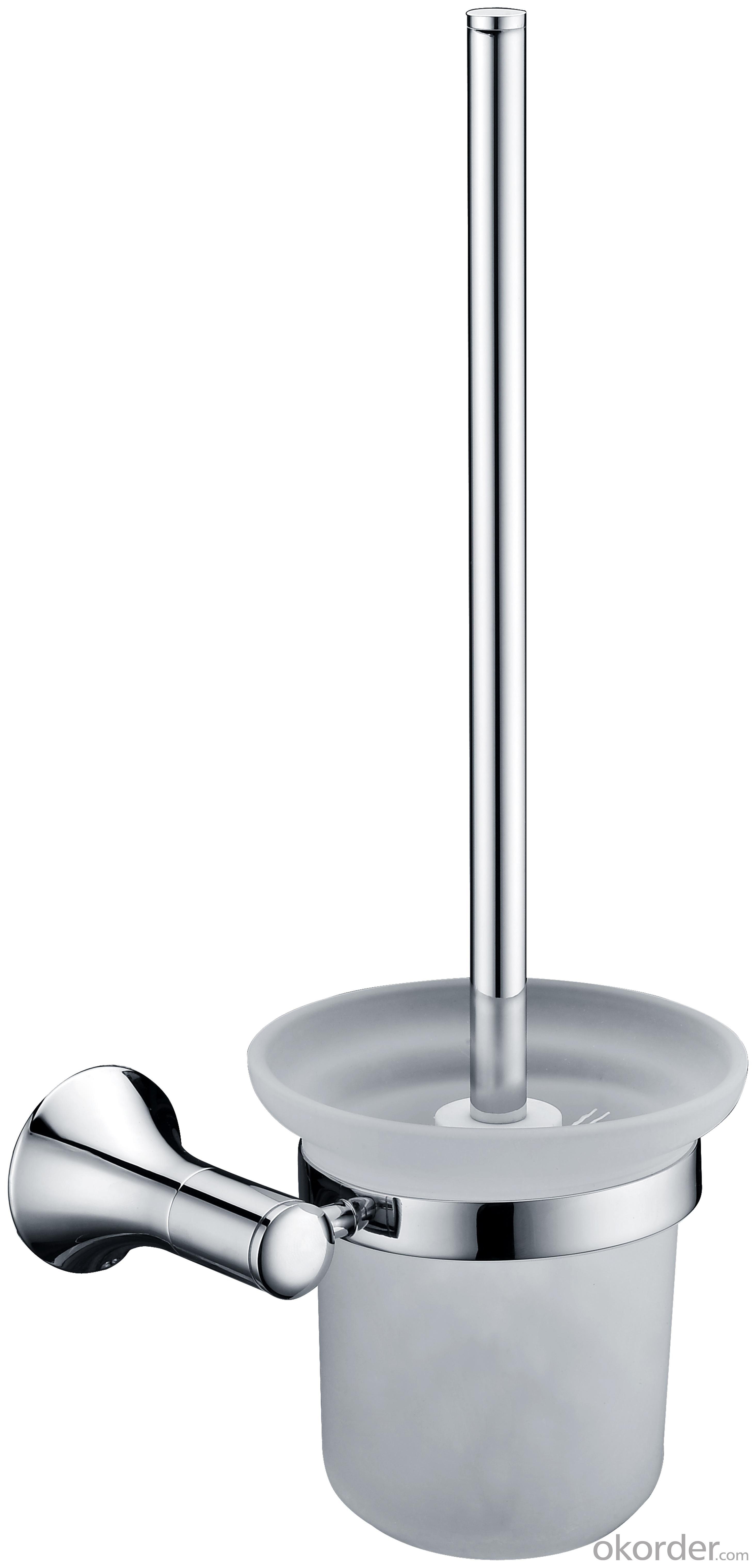 Decorative Exquisite Hardware House Bathroom Accessories Solid Brass Toilet Brush Holder