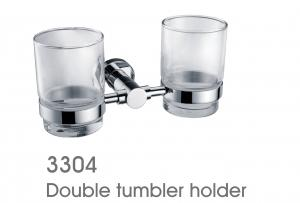 Decorative Exquisite Brass Bathroom Accessories Double Tumbler Holder