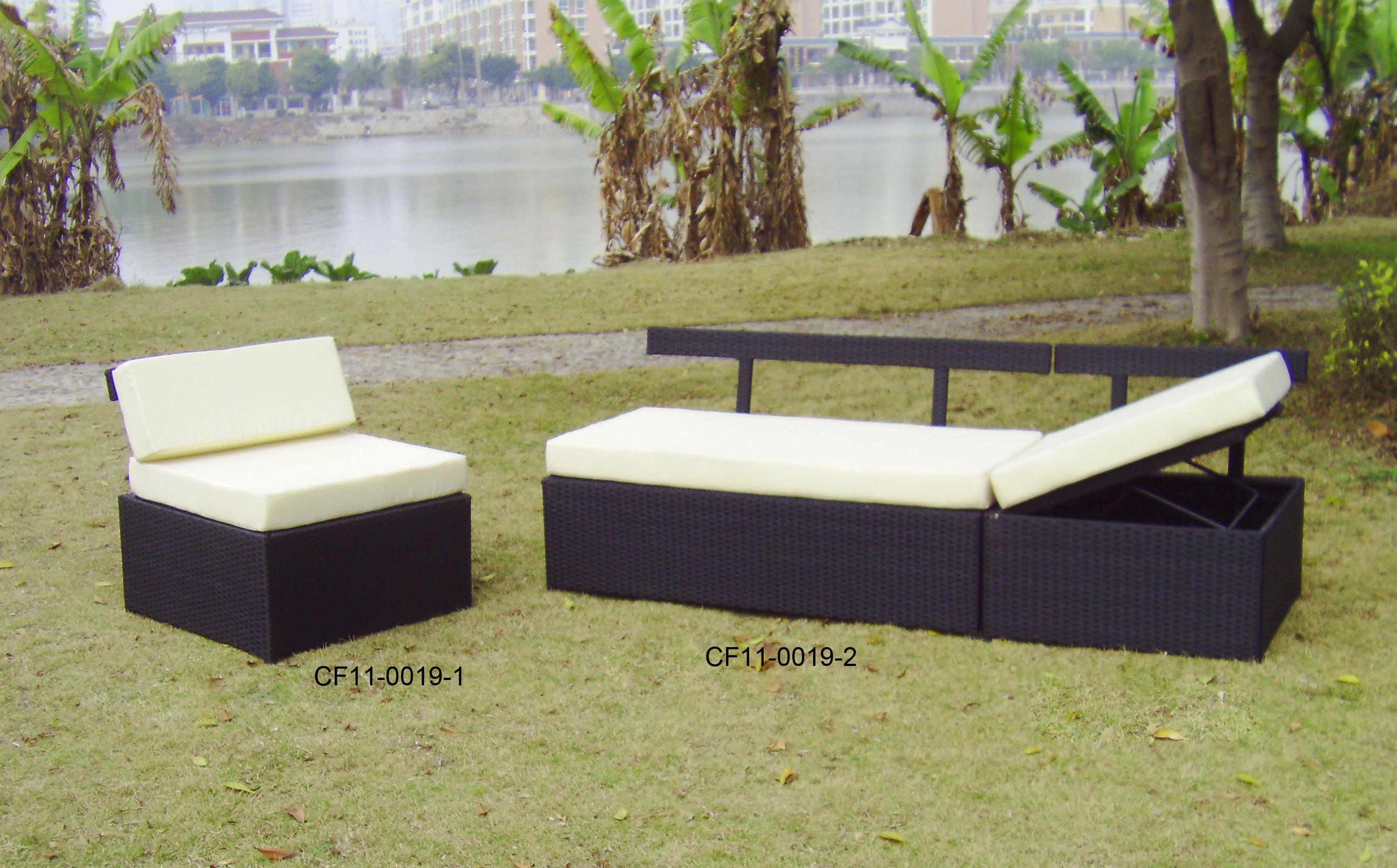 Rattan Modern Outdoor Garden Furniture One Lover Sofa Two Single Sofa