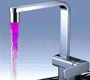 Unique Design Temperature Control Colour Changing Led Bath Faucets Brass Cartridge Basin Mixed