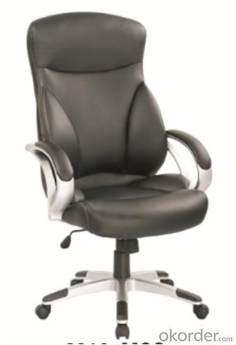 Black Modern style PU Office Chair/350mm Nylon Powder Coated/Butterfly tilt/Office Furniture