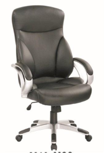 Black Modern style PU Office Chair/350mm Nylon Powder Coated/Butterfly tilt/Office Furniture