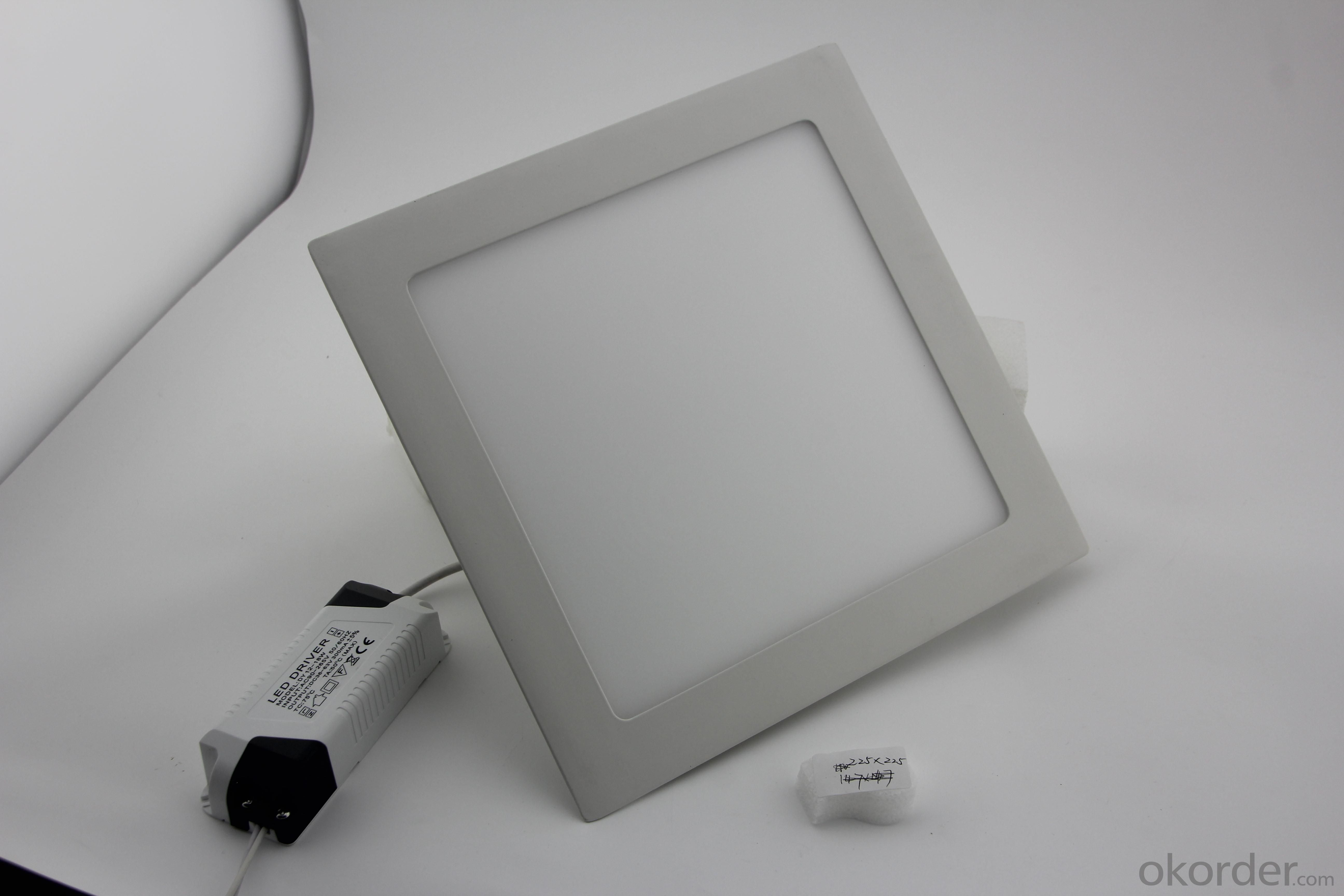Dimmable LED Panel Light Square SMD Chip 18W