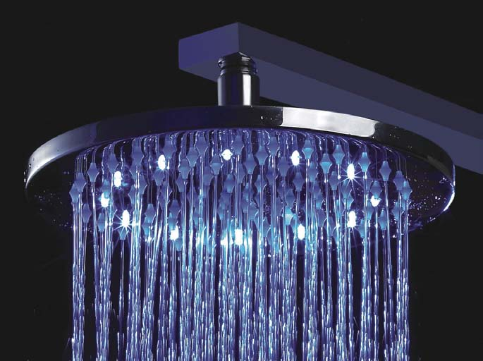 Unique Design Temperature Control Colour Changing Led Bath Faucets 10