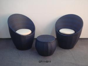 Rattan Modern Oval Garden Furniture Table Set