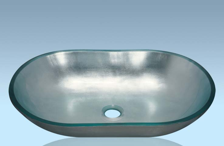Unique Design Hot Selling Bathroom Product Tempered glass Ovel Washbasin