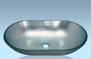 Unique Design Hot Selling Bathroom Product Tempered glass Ovel Washbasin