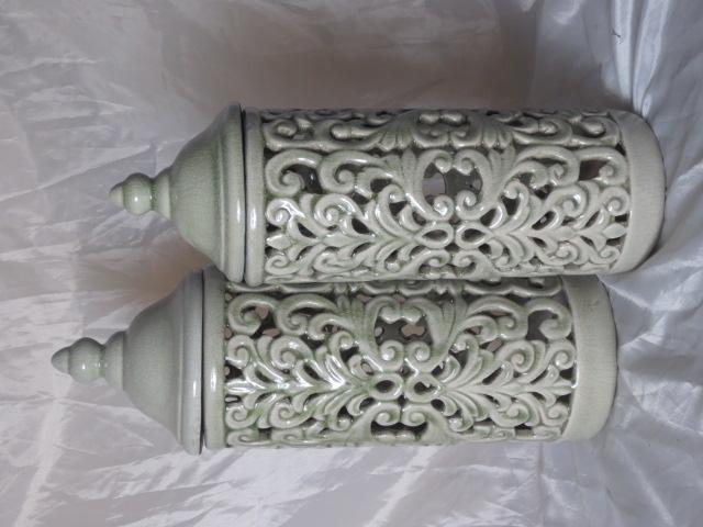 New Design Hot Selling Home Decorative Ceramic Hollow Flower Jar S
