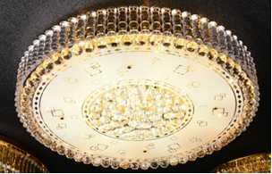 Crystal Ceiling Light Pendant Lights Classic Golden Ceiling Pendant Light 62PCS Light Ball Round D1000mm