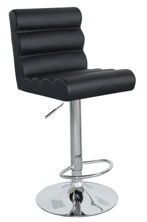 Hot Selling High Quality Comfortable Black The Bulging Bar Stool