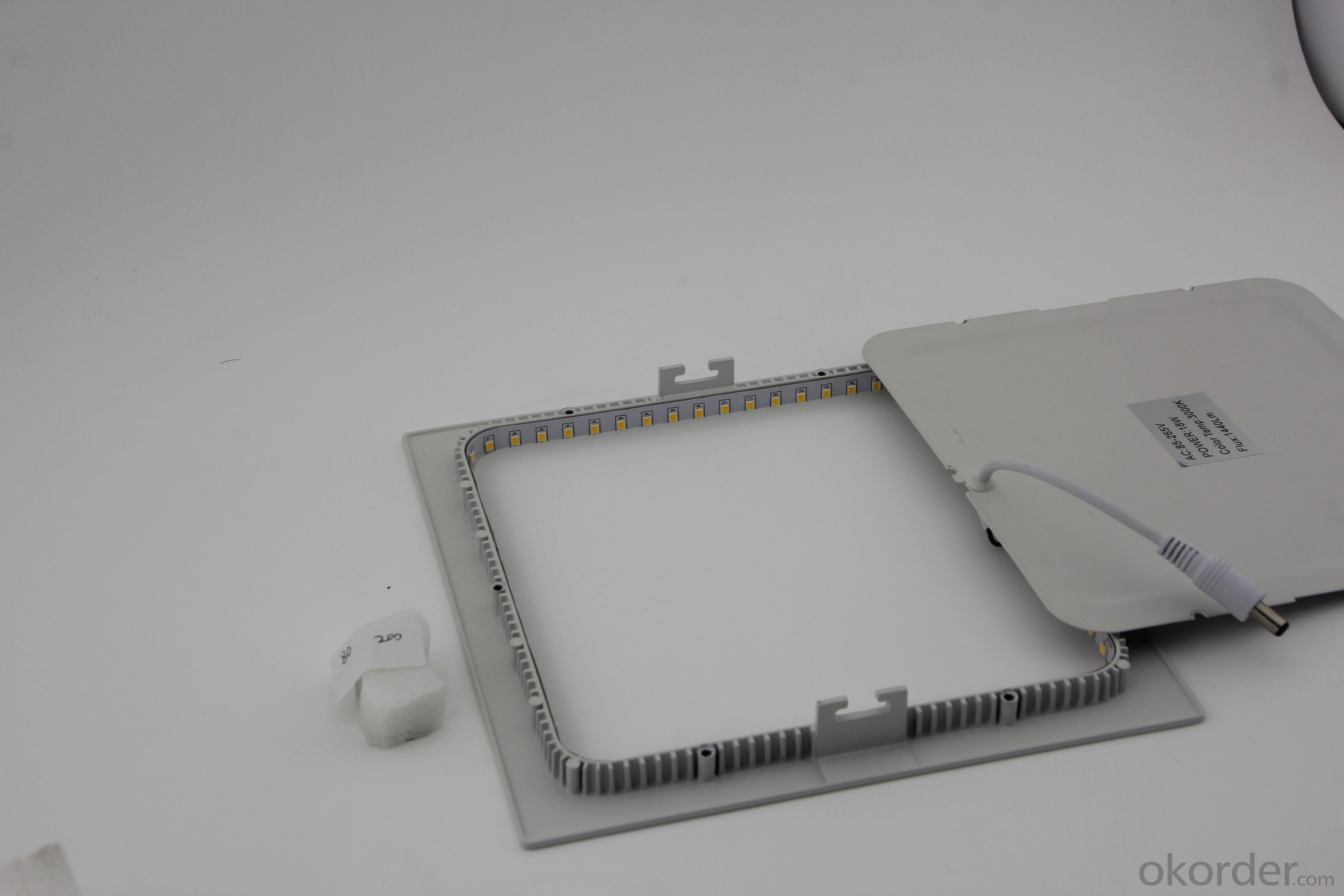 Dimmable LED Panel Light Square SMD Chip 15W