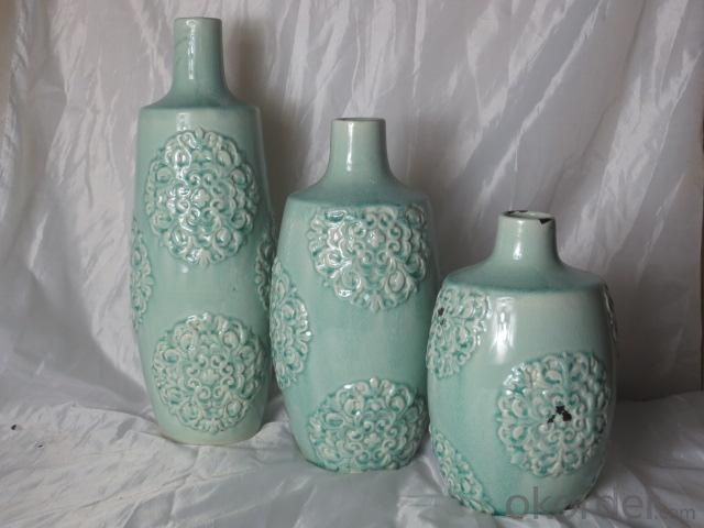 Hot Selling Fashion Home Décor Ceramic Light Color Flower Vase M