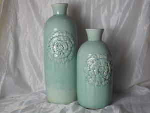 Hot Selling Fashion Home Decorative Ceramic Cylindrical Shape Flower Vase L