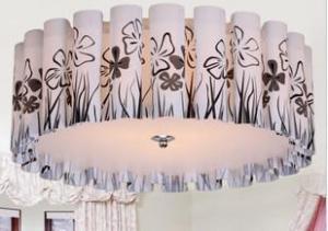 Living Room Light PVC Ceiling Lamp D500mm Ceiling Light Pendant Lights Energy-Saving Lamp Type-2