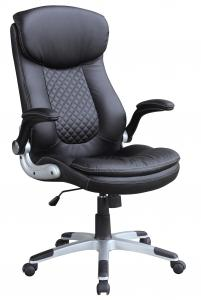 New Design Hot Selling High Back Full Black Half PU High Quality Office Chair