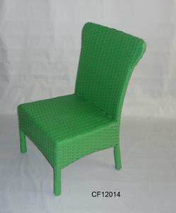 Classical Outdoor Furniture Iron and PE Rattan Children Chair